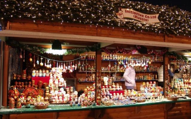 Ruský Vánoční stánek v Sapporu