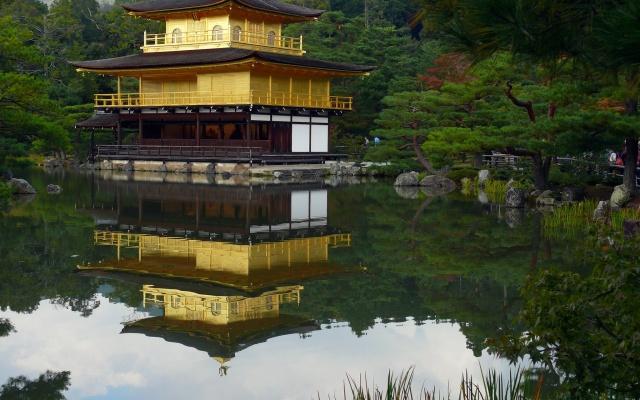 Zlatý pavilon (Kinkaku-ji) v Kyótu