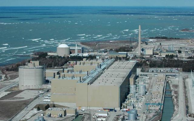 Jaderná elektrárna Bruce v Kanadě (ilustrační foto)