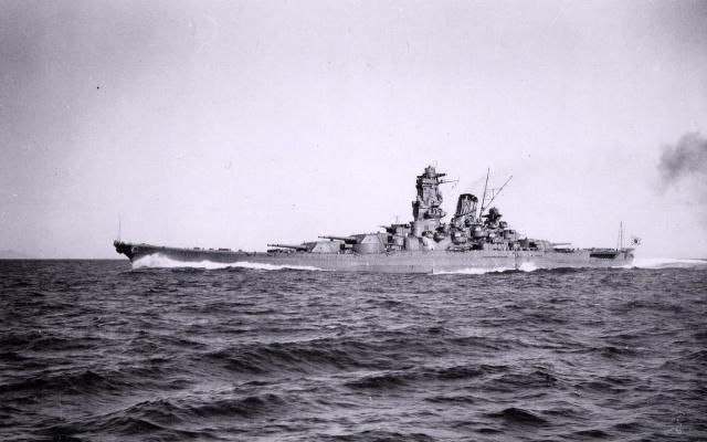 Historická fotografie lodi Yamato