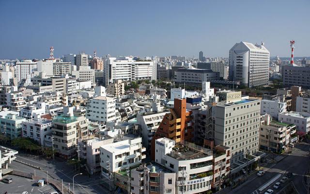 Pohled na město Okinawa