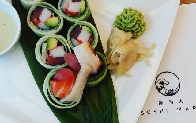 Sashimi roll jinak- bez rýže