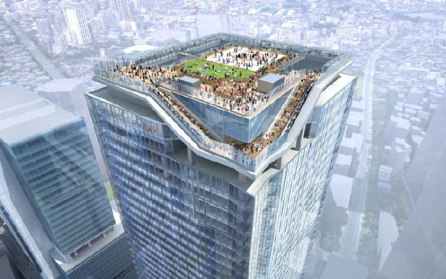 Nový mrakodrap v Shibuyi