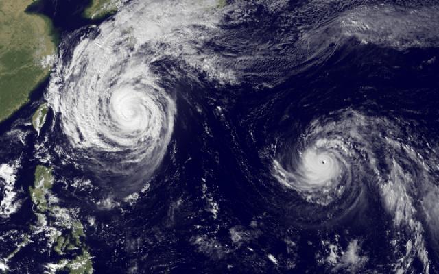 Tajfuny Francisco a Lekima