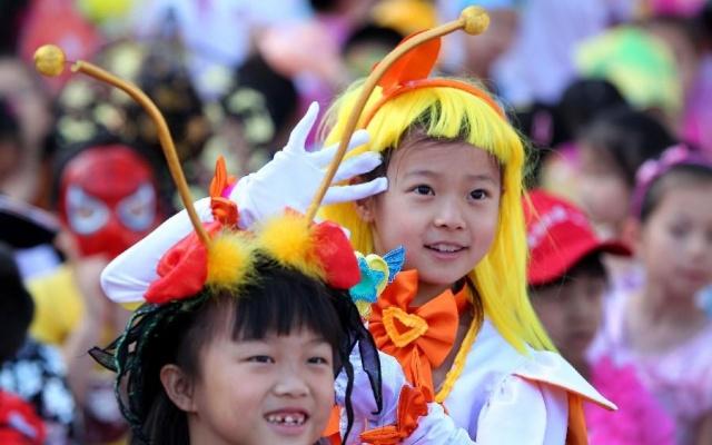 Děti na oslavách MDD v Pekingu