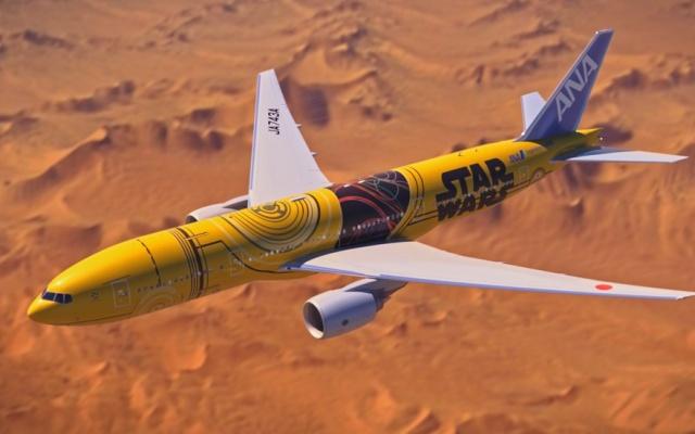Boeing 777 v budoucích barvách C-3PO