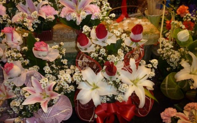 Květinový trh v Pak Klong Talad