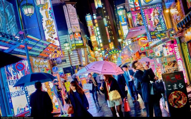 Nákupní čtvrť Kabukicho v Shinjuku