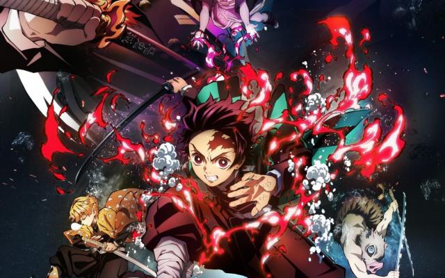 Oficiální plakát k filmu Kimecu no jaiba: Mugen rešša-hen.