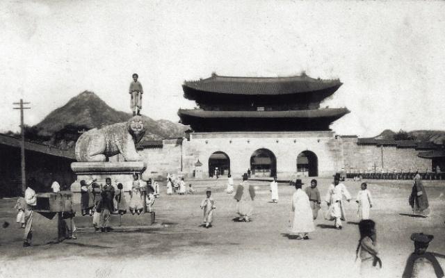 Soul, oblast Gwanghwamun na počátku 20. století