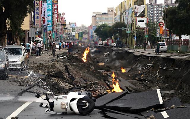 Výbuch plynu v Kaohsiungu