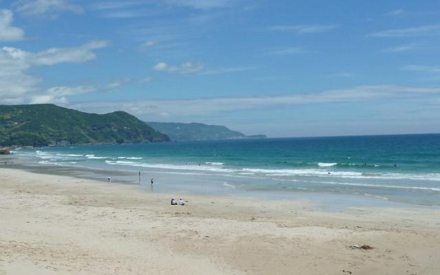 Širahama pláž v Japonsku