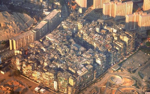 Kowloonské opevněné město v roce 1986