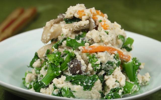 Shira-ae: rozmačkané tofu