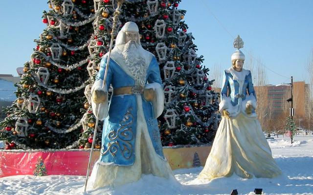 Vánoční výzdoba v Astaně