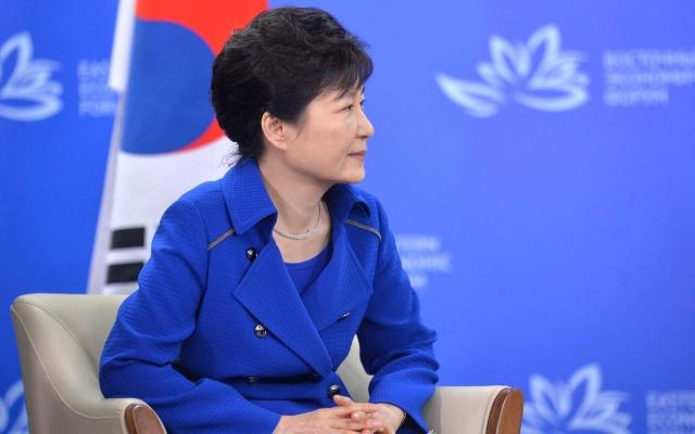 Bývalá korejská prezidentka Pak Kun Hje