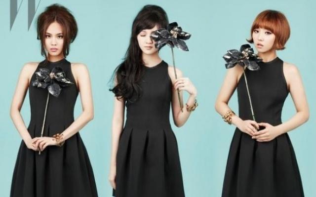 """miss A v retro účesech pro časopis """"W Korea"""""""