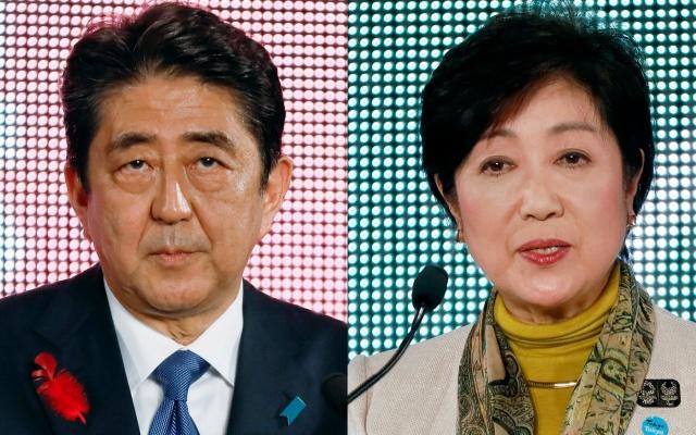 Shinzo Abe a Yuriko Koike jako dva hlavní soupeři voleb