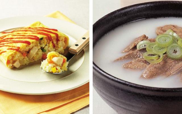 Bokkeumbap (rizoto) a seolleontang (hovězí polévka)