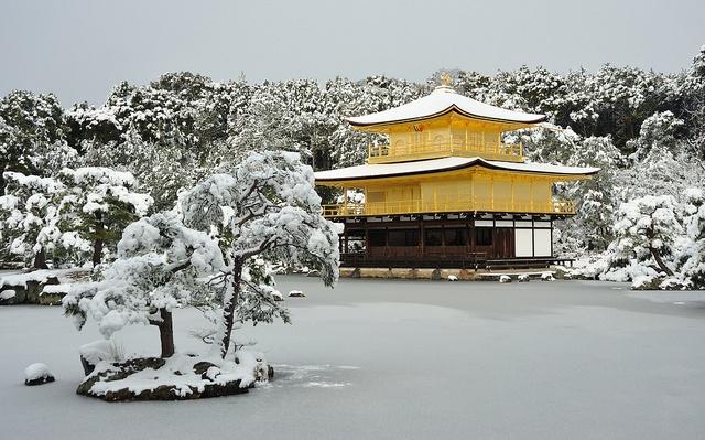 ilustrační foto: Zlatý pavilón v zimě