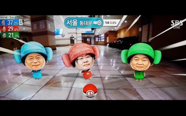 Mun Jä In, Hong Džun Pjo a An Čchǒl Su bojují o přízeň voličů