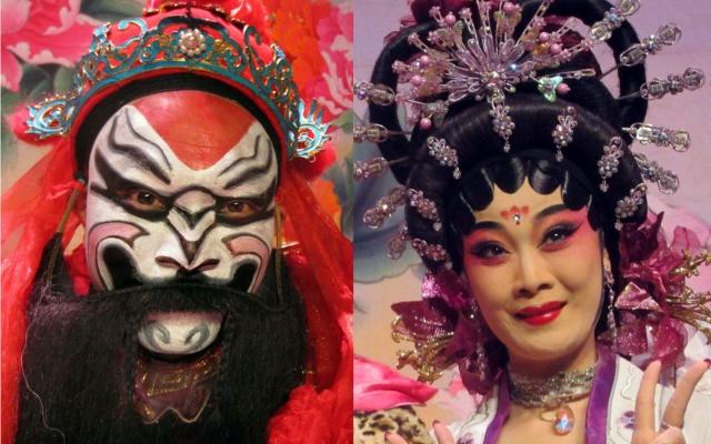 Operní herec Wu Zedong a herečka Jiang Wenduan