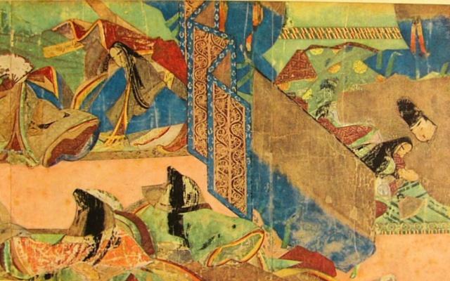 Období Heian (výjev z Gendži monogatari)