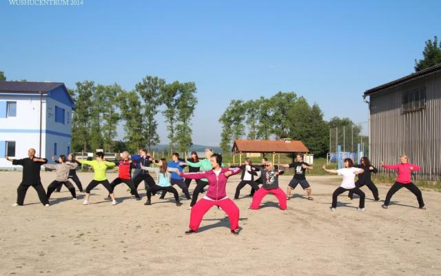 Cvičení žáků z Wushucentra
