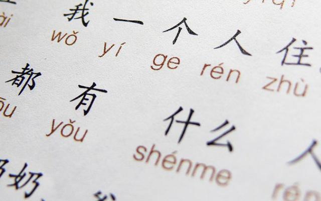 Přepis znaků do pinyinu.