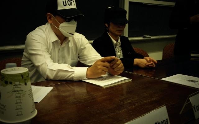 Kim Young Cheol (vlevo) a Kim Mi Ran (vpravo), dva severokorejští uprchlíci