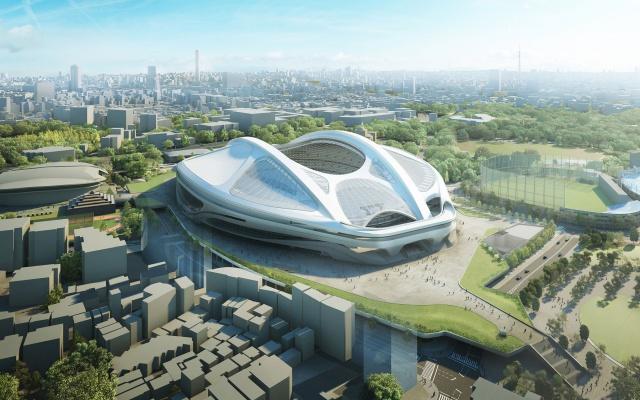 Původní návrh stadionu
