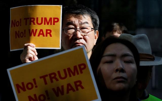 Páteční protest proti státní návštěvě Donalda Trumpa